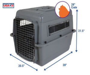 """Petmate Sky Kennel Travel Dog Crate 28"""" L x 20.5"""" W x 21.5""""H"""