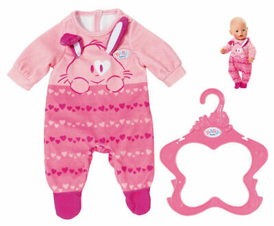 Baby Born Pink Bunny Babygro Romper Suit Outfit Dolls Clothes by Zapf Creation for sale  Shipping to Ireland