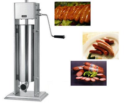 Sausage Stuffer Stainless Steel Vertical Manual Meat Filler 7l