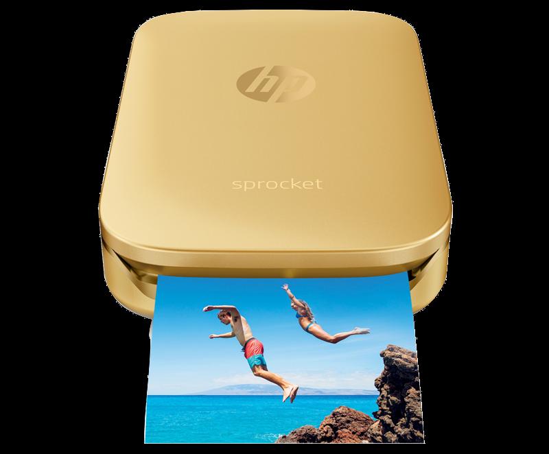$109.95 - *BRAND NEW* HP - Sprocket 100 Photo Printer Smartphone Printer - Gold