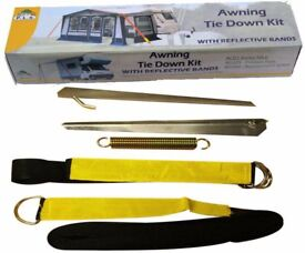 Caravan Awning Tie Down Kit - Black Awning Storm Straps Up And Over The Top Design