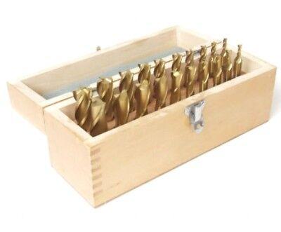New 20 Pcs 4 2 Flute Hss Titanium Tin Coated Square End Mill Set 316-34