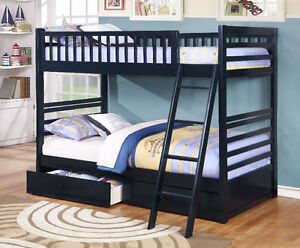 NEW! Twin/Twin Wood Bunk Bed w/ Storage Drawers, Free Delivery! Comox / Courtenay / Cumberland Comox Valley Area image 3