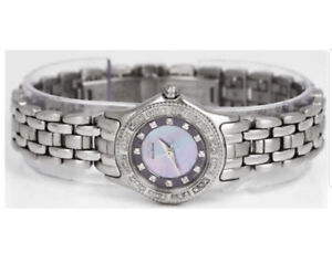 Eco-drive watche stainless steel and diamond