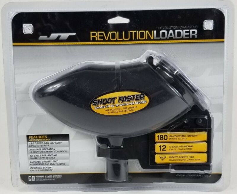 Empire JT Revolution Electronic Paintball Hopper Loader Black NEW FREE Shipping