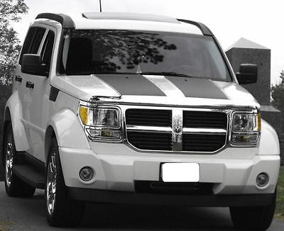"""All Year DODGE NITRO 17"""" Hood Rally Stripe Set Stripes Decal Decals Graphics"""