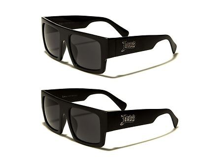 LOCS Sunglasses Flat Top Square Sport Baseball Golf Running Gangster Style (Top Sunglasses For Running)