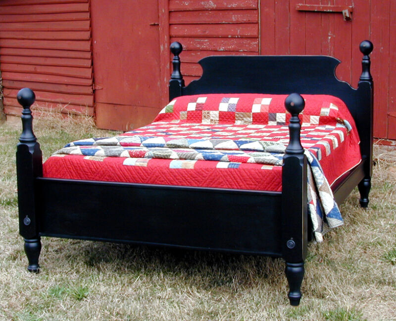 French Country Pine TAVERN BED, Queen Size, USA Hand Made Reproduction
