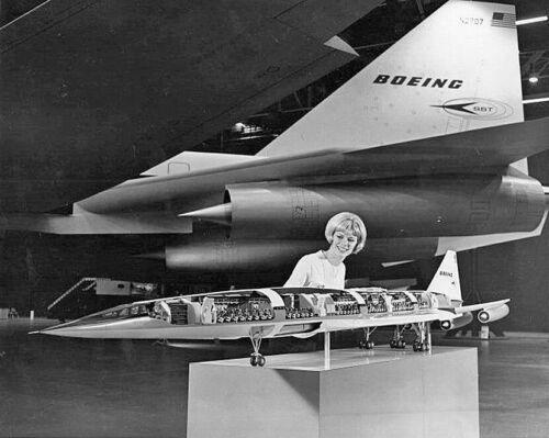 "Boeing Model 2707-100 SST ((8.5""x11"")) Print"