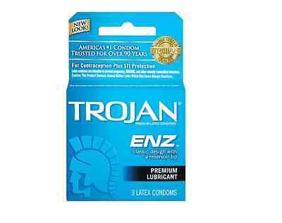 For sale TROJAN Enz Condoms Lubricated Latex 3 Each