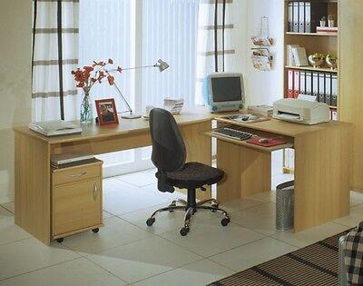 Office Compact Winkelkombination Buche Dekor Schreibtisch Winkelschreibtisch