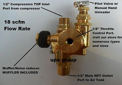 Gas Air Compressor Pilot Check Valve Unloader Valve Combo 95-125 Nsg7