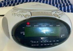 Coby Dual Alarm Clock CD Player w AM/FM Stereo Radio. Great Condition, Read Desc