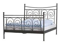 Ikea black metal gothic style double bed