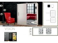 ELEGANT DESIGNS of Brand New SLIDING MIRROR VISION WARDROBE Order now