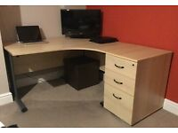 Large Corner Desk with pedestal