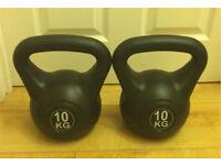 Pair / two 10 KG kettlebell kettle wieghts