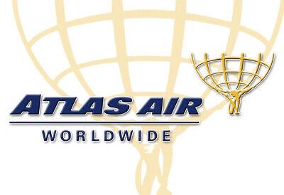 Atlas Air Worldwide Logo Fridge Magnet 3 25 X2 25  Collectibles  Lm14073