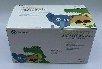 50x Masken Kinder Mund-Nasen-Schutz 3-lagig Mundschutz mit verschiedenen Motiven