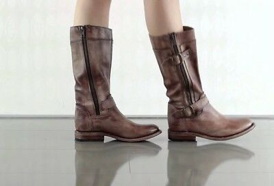 NEW Bed Stu Gogo Boots Size 6.5 Brown Leather Bed/Stü](Brown Gogo Boots)