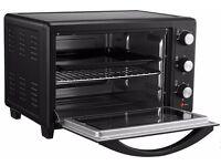 VonShef 30 Litre Black Convection Mini Oven Table Top Grill 1600W & Accessories