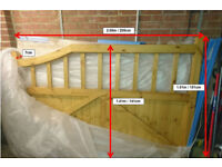 Large solid wood gate (width = 4.1 metres, height = 1.51 metres) with brackets/fittings