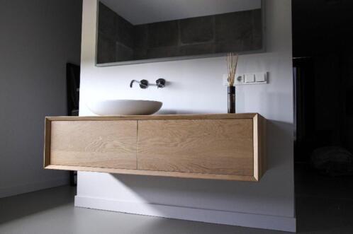 ≥ massief eiken badkamermeubel wastafel volledig op maat