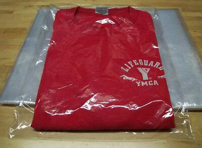"""100 - 9x12 Clear Poly T - Shirt Plastic Bags w/ 2"""" Flap on Rummage"""
