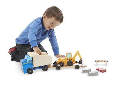 Wooden Toy Truck - Melissa & Doug Classic Wooden Toy Dump Truck & Loader # 2757 BRAND NEW