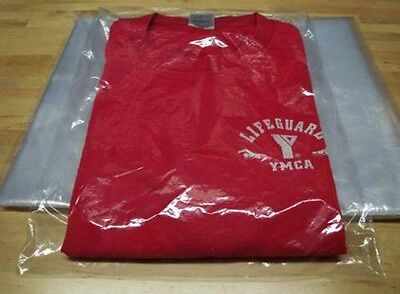 25-9x12 Clear Poly T-shirt Plastic Bags W 2-back Flap Flip Top-best Quality