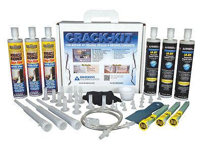 Fix Crack Concrete (Crack-Kit Epoxy Injection Concrete Crack Repair)