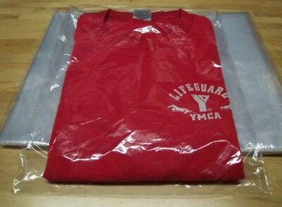 50 9 X 12 Poly T - Shirt Clear Plastic Bags 2 Back Flap 1 Mil Merchandise