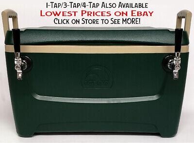 Jockey Box Cooler 2 Faucet 516 X 50 Stainless Steel Coils 48qt Draft Beer