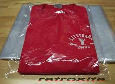 9 X 12 Poly Clear Plastic T-shirt Apparel Bags 1 Mil 2 Back Flap Lock 10-1000
