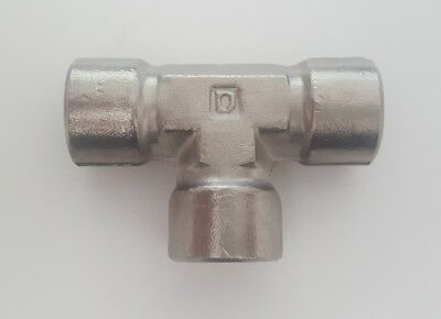 New Stainless Steel Tee Pipe 14 Fnpt Similar Ss-4-t