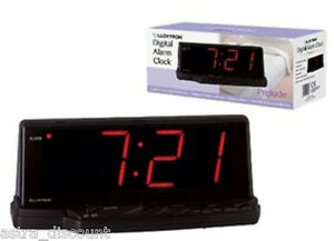 Lloytron Prelude Jumbo Bedside Large Display Digital LED Alarm Clock Snooze