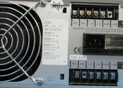 Agilent Hp 6626a Quad Variable Dc Output Power Supply Tested Excellent Cosmetic
