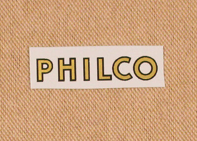Philco Radio Logo Water Slide Decal - Old Antique Wood Vintage Tube Radio -