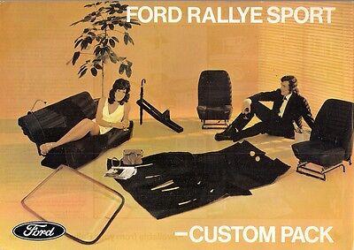 Ford Escort Mexico & RS 1600 Mk1 Custom Pack 1971-72 UK Market Leaflet Brochure