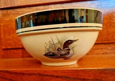 Loon Lake Folkcraft Scotty Z Stoneware, Cereal Bowls, 6 1/4