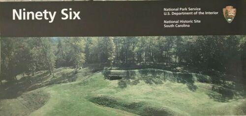 New NINETY SIX NHS - South Carolina  NATIONAL PARK SERVICE UNIGRID BROCHURE  Map