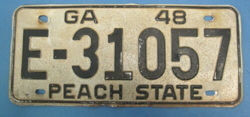 1948 Georgia passenger license plate