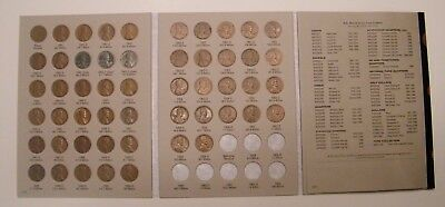 Complete Lincoln Wheat Penny Cent Collection Album 1941 - 1958 P D S Set