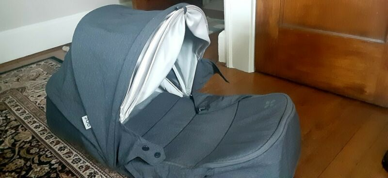 UPPAbaby bassinet for MINU Stroller Charcoal Gray (with rain cover)