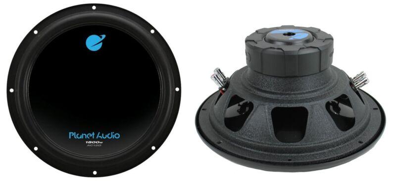 """Planet Audio AC12D 12"""" 3600 Watt 4 Ohm Dual Voice Coil Car Audio Subwoofer, Pair"""