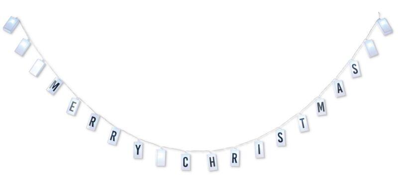 "87.6"" Indoor Light Up Christmas Tree Mantel Railing Box Chain Garland Decoration"