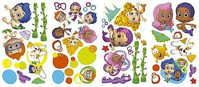 New BUBBLE GUPPIES Wall Decals Nickelodeon Stickers Kids Bedroom Toy Room Decor - Bubble Guppies Room Decor