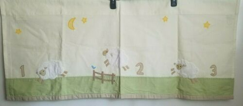 "Pottery Barn Kids Baby Infant Nursery Valance Curtain Counting Sheep 44""x18"""