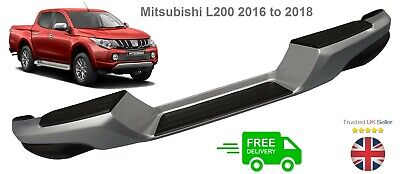 Rear Bumper Silver & Black With Brackets For Mitsubishi L200 KL1T 2.4TD 4/2015+