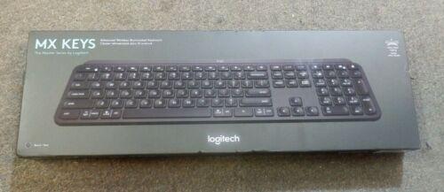 Logitech MX Keys Keyboard Black NEW Factory Sealed Ships FREE